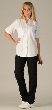 White - Avida Ladies' Cook Shirt
