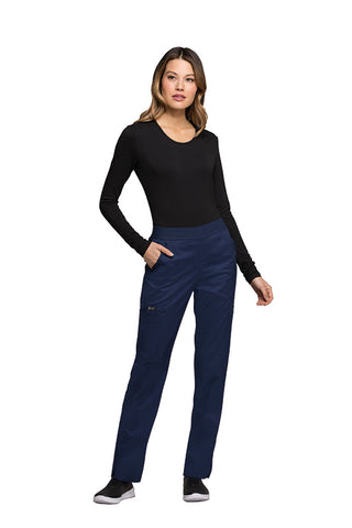 Navy - Cherokee Luxe Natural Rise Pull On Pant