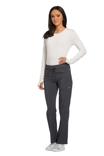 Pewter - Cherokee Infinity Mid Rise Drawstring Pant