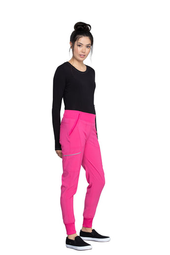 Carmine Pink - Cherokee Infinity Mid Rise Jogger Pant
