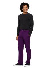 Eggplant - Cherokee Infinity Men's Fly Front Pant