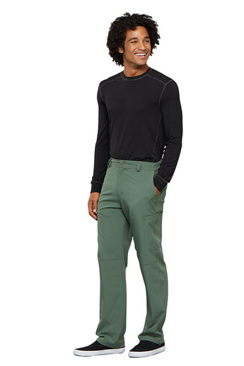 Olive - Cherokee Infinity Men's Fly Front Pant