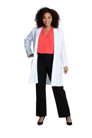 "White - Project Lab by Cherokee 37"" Women's Lab Coat"