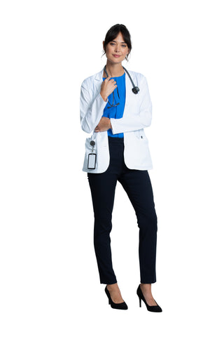 "White - Project Lab by Cherokee 28"" Women's Consultation Coat"