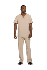 Khaki - Cherokee Infinity Men's V-Neck Top