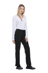 Black - Dickies EDS Essentials Mid Rise Straight Leg Drawstring Pant