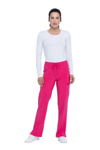 Hot Pink - Dickies EDS Essentials Mid Rise Straight Leg Drawstring Pant