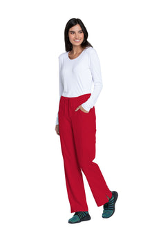 Red - Dickies EDS Essentials Mid Rise Straight Leg Drawstring Pant