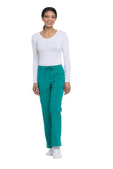 Teal Blue - Dickies EDS Essentials Mid Rise Straight Leg Drawstring Pant