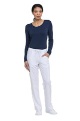 White - Dickies EDS Essentials Mid Rise Straight Leg Drawstring Pant