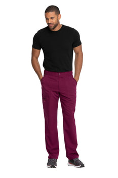 Wine - Dickies Balance Men's Mid Rise Straight Leg Zip Fly Pant