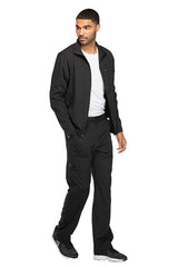 Black - Dickies Dynamix Men's Zip Front Warm Up Jacket