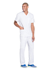White - Dickies Dynamix Men's V-Neck Top
