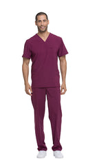 Wine - Dickies EDS Essentials Men's V-Neck Top