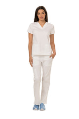 Dickies White - Dickies Gen Flex V-Neck Top
