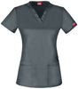Light Pewter - Dickies Gen Flex V-Neck Top
