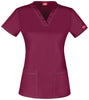 Wine - Dickies Gen Flex V-Neck Top