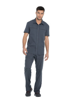 Pewter - Dickies Dynamix Men's Button Front Collar Shirt