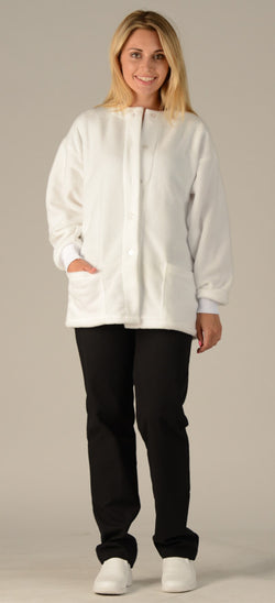 White - Avida Fleece Jacket