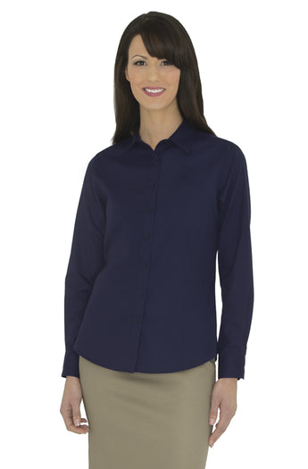 True Navy - Coal Harbour Women's Long Sleeve Work Shirt