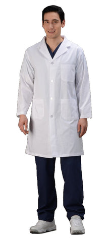 "White - Avida Lab Coats 42"" Unisex Lab Coat (100% Cotton)"