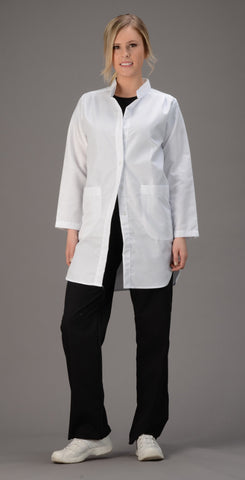 "Avida 36"" Women's Mandarin Collar Lab Jacket - Avida Healthwear Inc."