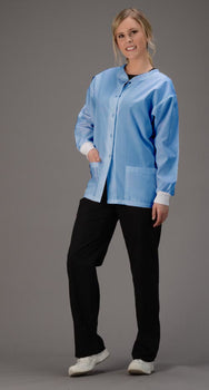 Ciel Blue - Avida Core Warm Up Jacket (AAMI Level I Fabric)