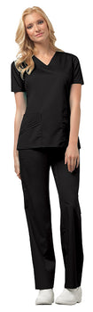 Black - Cherokee Luxe V-Neck Top