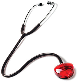 Red - Prestige Medical Clear Sound Heart Stethoscope - Heart Edition