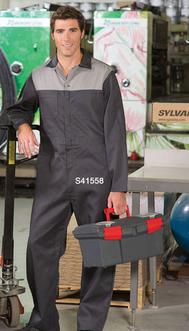 Charcoal/Graphite - Trimmed Coveralls