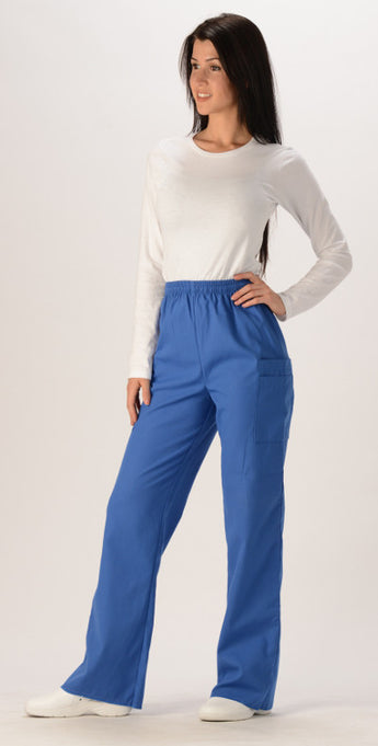 Royal Blue - Avida Contemporary Flare Leg Cargo Pant