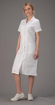 White - Avida Snap Front Dress