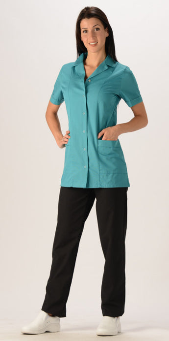 Teal - Avida Core Snap Front Top