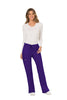 Grape - Cherokee Workwear Revolution Mid Rise Drawstring Cargo Pant