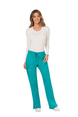 Teal Blue - Cherokee Workwear Revolution Mid Rise Drawstring Cargo Pant