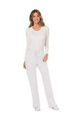 White - Cherokee Workwear Revolution Mid Rise Drawstring Cargo Pant