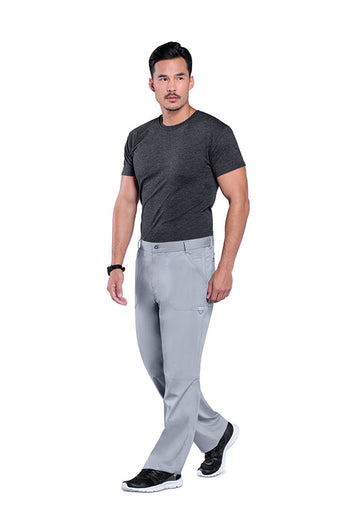 Grey - Cherokee Workwear Revolution Men's Fly Front Drawstring Pant