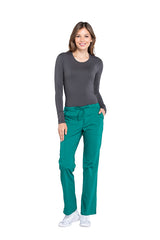 Hunter Green – Cherokee Workwear Professionals Mid Rise Drawstring Pant