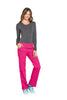 Electric Pink - Cherokee Workwear Professionals Mid Rise Pull On Cargo Pant