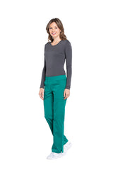 Hunter Green - Cherokee Workwear Professionals Mid Rise Pull On Cargo Pant