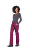 Wine - Cherokee Workwear Professionals Mid Rise Pull On Cargo Pant