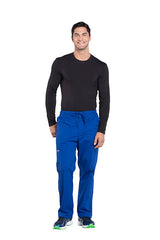 Galaxy Blue - Cherokee Workwear Professionals Men's Tapered Leg Drawstring Cargo Pant