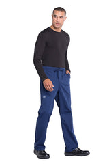 Navy - Cherokee Workwear Professionals Men's Tapered Leg Drawstring Cargo Pant
