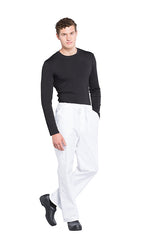 White - Cherokee Workwear Professionals Men's Tapered Leg Drawstring Cargo Pant