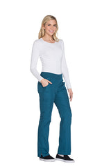 Caribbean Blue - Cherokee Workwear Originals Mid Rise Pull On Cargo Pant