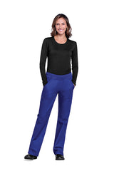 Galaxy Blue - Cherokee Workwear Originals Mid Rise Pull On Cargo Pant
