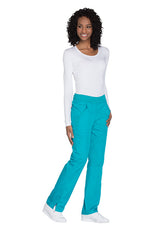 Teal Blue - Cherokee Workwear Originals Mid Rise Pull On Cargo Pant