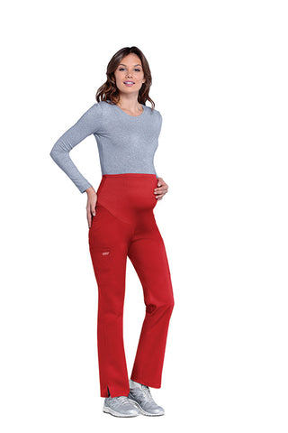 Red - Cherokee Workwear Professionals Maternity Pull On Pant