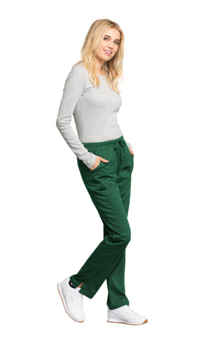 Hunter Green - Cherokee Workwear Revolution Tech Mid Rise Straight Leg Drawstring Pant