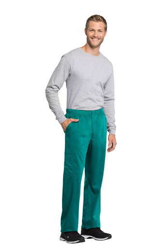 Teal Blue - Cherokee Workwear Revolution Tech Men's Fly Front Cargo Pant